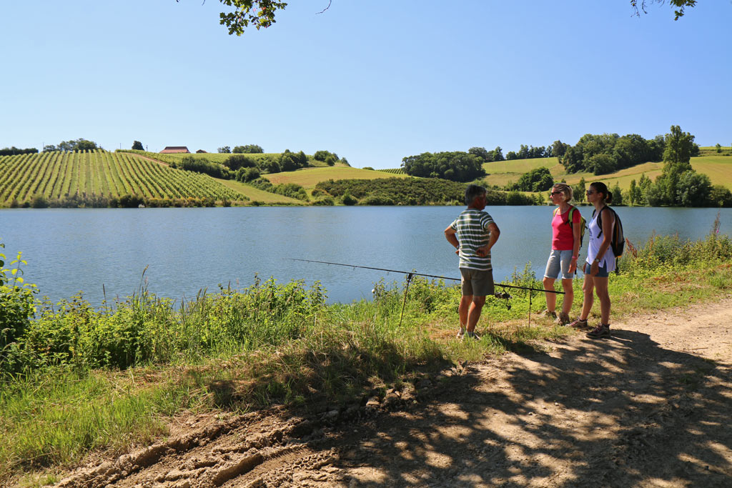 Randonnée, Pêche ... Au lac d'Aydie