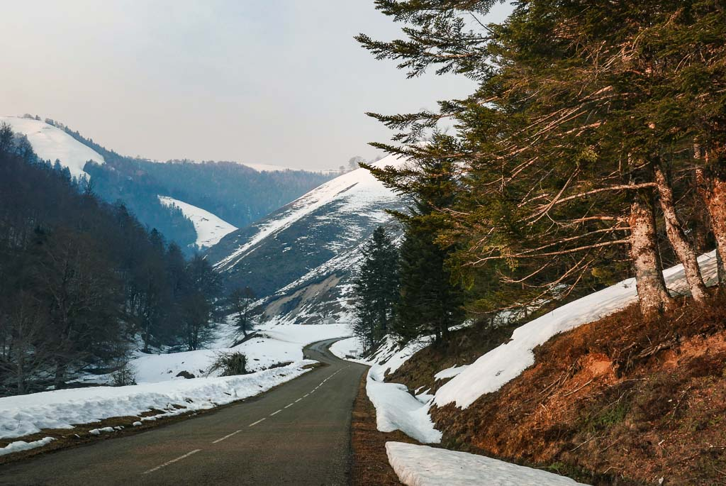 Route vers la Pierre Saint Martin