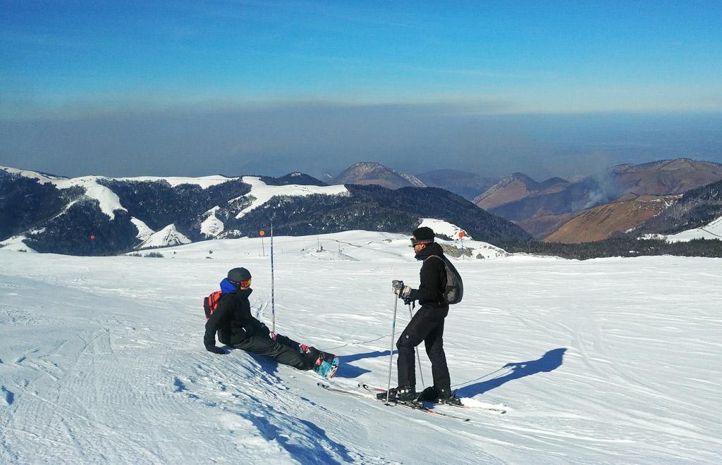 Skier à la pierre saint martin