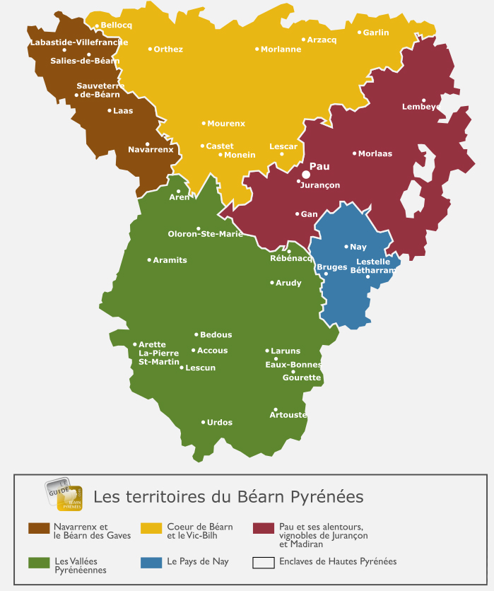 Map of Bearn