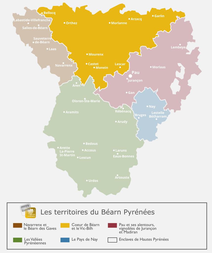 Carte de Vic-Bilh et coeur de Béarn
