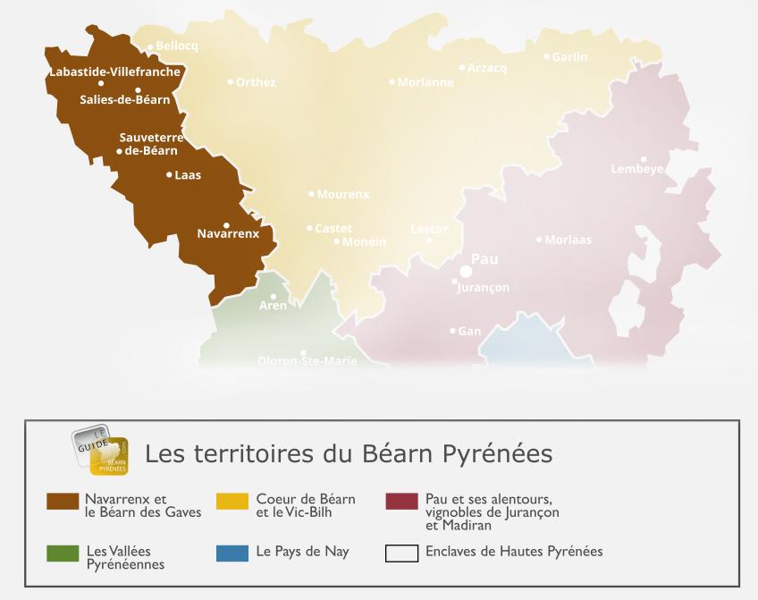 Carte du Béarn des Gaves