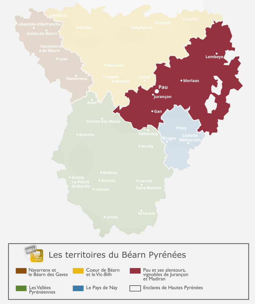 Carte du territoire de Pau